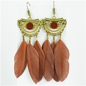 1p Earrings Hanging hook 10cm Original Collection Feathers 2019 76731