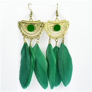 1p Boucles Oreilles Pendantes à crochet 10cm Original Collection Plumes 2019 76732
