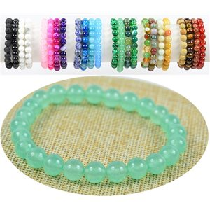 8mm Green Aventurine Stone Beads Bracelet on elastic thread 76893