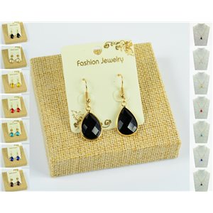 1p Earrings Golden 30mm Crochet Collection Crystal Color 76945