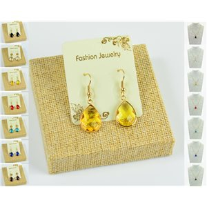 1p Earrings Golden 30mm Crochet Collection Crystal Color 76947