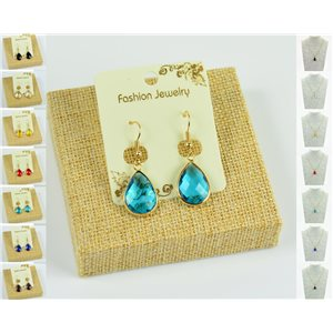 1p Earrings Golden 30mm Crochet Collection Crystal Color 76949