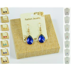 1p Earrings Golden 30mm Crochet Collection Crystal Color 76950