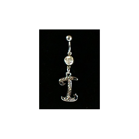 Piercing Strass Collection Steel 316L Letter I 32442