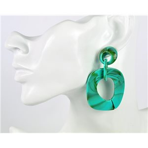 1p de Boucles Oreilles Pendantes à Clou 7cm en acrylique Fashion Colors 76968