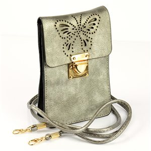 Women's Pouch Bag in PU Leather 11 * 17cm New Collection 77043