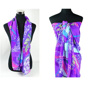 Foulard Paréo voile polyester 140cm-90cm New Collection 77086
