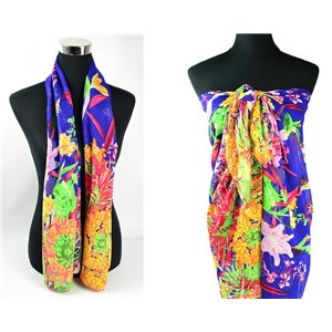 Foulard Paréo voile polyester 140cm-90cm New Collection 77092