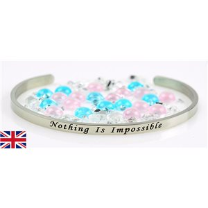 Stainless Steel Bangle Message: Nothing Is Impossible 77313