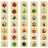 The whole Collection of 72 Necklaces Pendant 5cm in natural mother-of-pearl 0.75 € each 77464