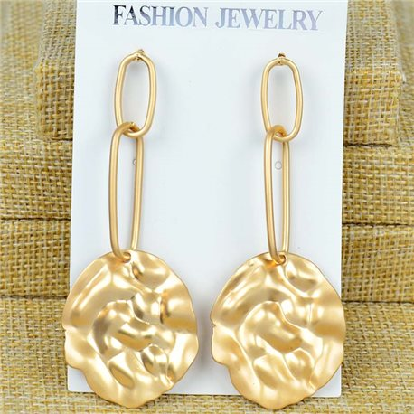 1p Earrings Nail 75mm metal color GOLD New Graphika 77377
