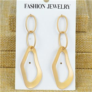 1p Earrings Nail 70mm metal color GOLD New Graphika 77405
