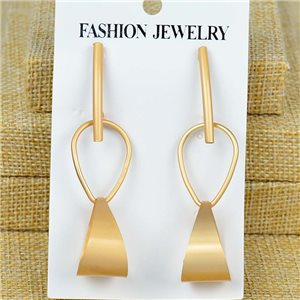 1p Earrings Nail 70mm metal color GOLD New Graphika 77407