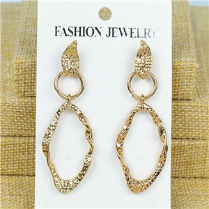 1p Earrings Nail 60mm metal color GOLD New Graphika 77371