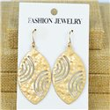 1p Earrings Hook 60mm metal color GOLD New Graphika 77409