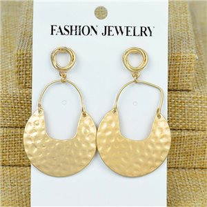 1p Earrings Nail 55mm metal color GOLD New Graphika 77375