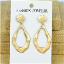 1p Earrings Nail 50mm metal color GOLD New Graphika 77381