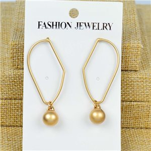 1p Earrings Nail 50mm metal color GOLD New Graphika 77393