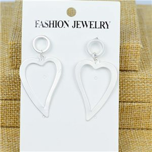 1p Earrings Nail 50mm metal color SILVER New Graphika 77398