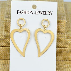 1p Earrings Nail 50mm metal color GOLD New Graphika 77399