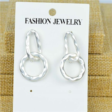 1p Earrings Nail 40mm metal color SILVER New Graphika 77382