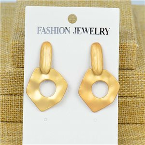 1p Earrings Nail 40mm metal color GOLD New Graphika 77385