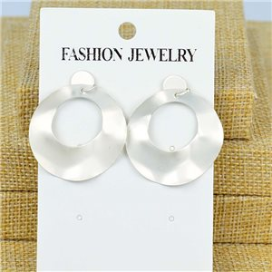1p Earrings Nail 40mm metal color SILVER New Graphika 77396