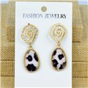 1p Earrings Nail 45mm metal color GOLD New Graphika 77415