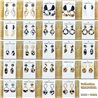 1p Earrings Nail 40mm metal color GOLD New Graphika 77413
