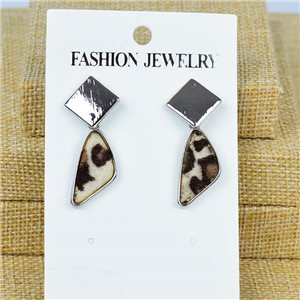 1p Earrings Nail 40mm metal color SILVER New Graphika 77416
