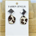 1p Earrings Nail 40mm metal color SILVER New Graphika 77420