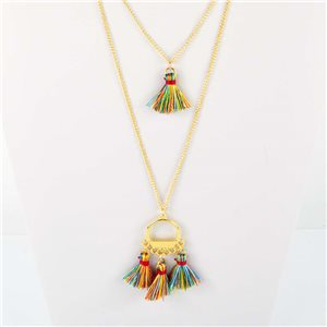Adornment Collection Pompon 2019 Necklace Long necklace multirang golden chain L48cm 76572