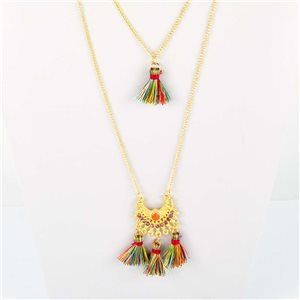 Adornment Pompom Collection 2019 Necklace Multirang chain necklace gold L48cm 76576