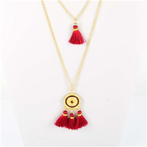 Adornment Pompom Collection 2019 Necklace Multirang chain necklace L48cm 76590