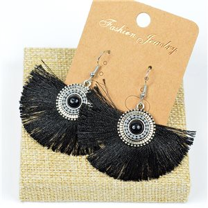 1p Earrings Crochet Tassel and Pearls Ethnic New Collection 77617