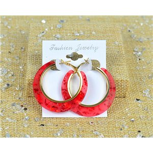 1p Earrings Spangled Hoops 45mm clamshell New Collection 77693