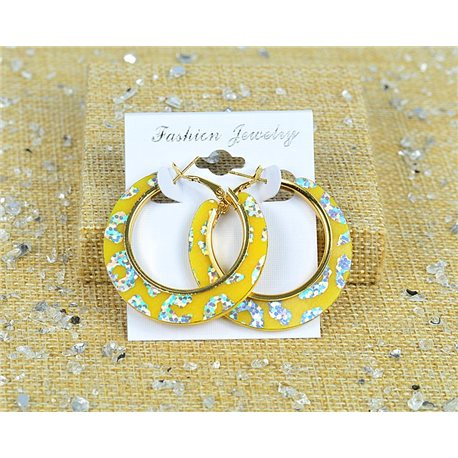 1p Earrings Spangled Hoops 45mm clamshell New Collection 77707
