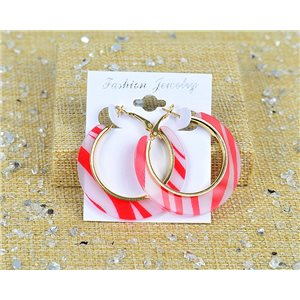 1p Earrings Earrings Chamoles Hoops 45mm clamshell New Collection 77698