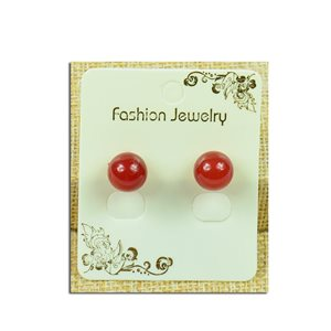 1p Pierced Gemstone Pearl Earrings 10mm - New Collection 77940