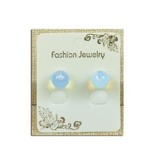 1p Earrings with 10mm Pearl in Moonstone - New Collection 77928