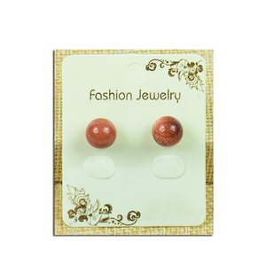 1p Earrings with 10mm Pearl Nail in Sun Stone - New Collection 77939