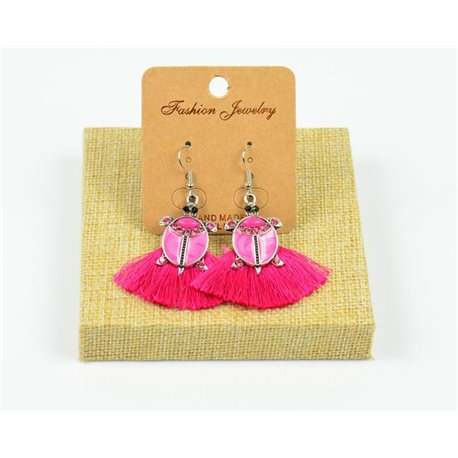 1p Earrings Crochet Tassel and Pearls Ethnic New Collection 77954