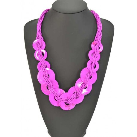 Long necklace beads and costume jewelery Pearl 57925