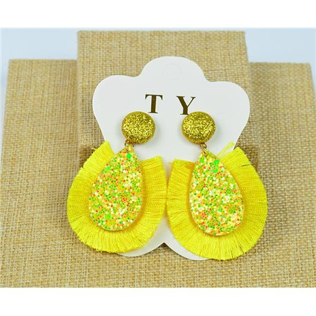 1p Earrings with Nails Pompon and Sequins New Collection Chic 77896