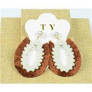 1p Earrings Tassel Nail on Beads New Collection Chic 77905