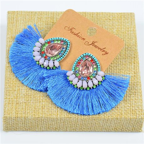1p Earrings Earrings Handmade Beads and Rhinestones Ethnic New Collection 77794