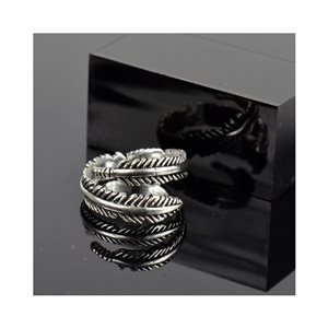 Adjustable ring t47 to t57 in aged silver metal Limited Edition Collection 78382
