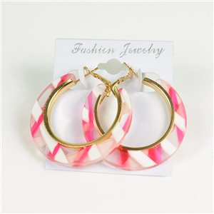 1p Earrings Chamarrés Creoles 45mm flap closure New Collection 78183