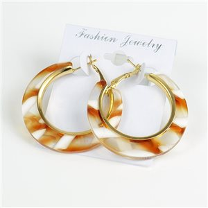 1p Earrings Chamarrés Creoles 45mm flap closure New Collection 78189
