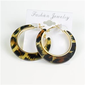 1p Panther Hoop Earrings 45mm flap closure New Collection 78196